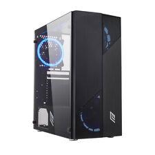 CASE ATX PC GAMING 4 VENTOLE 40 LED DUAL HALO ROSSO PANNELLO LATERALE VETRO 3USB