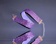 Glitzer-Halsband / Choker -lila,feiner Glitter . Kropfband ,22 mm,