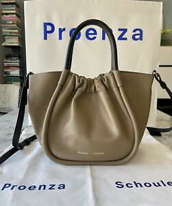 Proenza Schouler Small Crossbody Ruched Tote Light Taupe