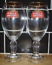 6 X Original Stella Artois Chalice Pint Glasses M17 Brand New