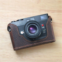 Genuine Leather Half Case for Minolta CLE Camera Retro Handmade Protective Cover
