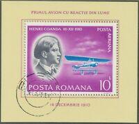 RUMÄNIEN 1978 VFU Block 10 L. Pioniere der Luftfahrt Henri Coanda 16.12.1910