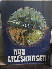 Vintage Nya Lill Skansen Travel Poster 1971, Islandstrom '71, Small Farm/Zoo