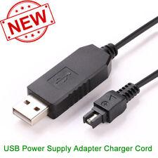 USB Power Adapter Charger Cord for Sony DSC-HX1 DSC-HX100 DSC-HX200 DCR-DVD7 e