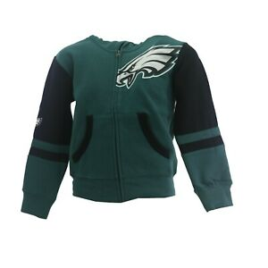 Philadelphia Eagles Official NFL Children Youth & Kids Size Full Zip Sweatshirt