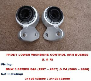Front Lower Wishbone Control Arms Bushes Set For BMW Z4 Convertible (03 - 08)