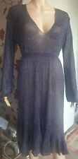 M&S Shimmery party cocktail dress semi sheer size 16 (Large)