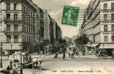 PARIS 12 XII Rue de Chaligny Attelage avec remorque bien chargée