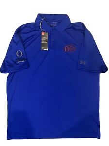 2021 NCAA Football Championship Under Armour Polo Dr Pepper - Men's Large Blue