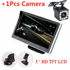 Set 5 Inch TFT LCD Digital Monitor With 12LED Rearviwew Camera Reverse Parking