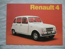 1972 Renault 4 range Brochure