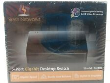 Brash Networks 5-Port Gigabit Desktop Switch (Model: BN105) Brand New Sealed
