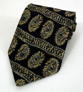 EUC St Michael's Marks & Spencer Blue Paisley All Silk Tie Made in the UK