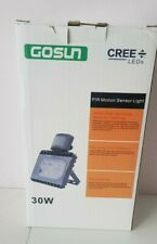Gosun Cree Led PIR Motion Sensor Outdoor Security Light 30W Cool White