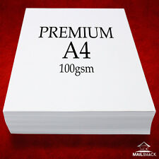 100 Sheets A4 PREMIUM 100gsm ULTRA WHITE Paper High Quality Copier Printer Laser