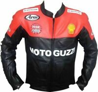 Moto Guzzi Racing Biker Motorbike Leather Jacket Motorcycle Leather Jackets CE