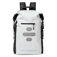 Ettore Cycling Rucksack 100% Waterproof Dry Bag 25L & 30L - Black/White - Sonar