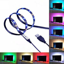 1M 5V USB LED Strip Lights TV BackLight 5050 RGB Color Changing with 3Key Remote