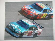 Dale Earnhardt Jr, Jeff Gordon 2x Auto #88 AMP #24 DUPONT Chevys Cup 8x10 photo