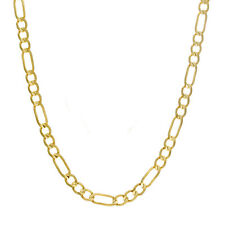 Necklace 4.00mm Thick Gold Lobster Clasp Solid 14Kt Yellow Gold Figaro Chain