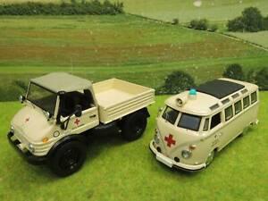 Schuco 1:43 1 Unimog, 1 VW Bus DRK Straubing/Nürnberg (VO) T1198