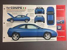 "1996 Fiat coupe IMP ""Hot Cars"" Spec Sheet Folder Brochure #3-30 Awesome L@@K"