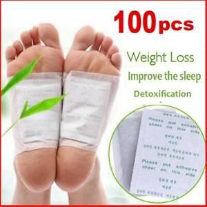100x Fusspflaster Detox Entgiftung Vitalpflaster Bambus Entschlackung Foot Pad