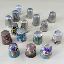Large collection joblot lot of 16 Thimble Thimbles - Antique / vintage Cloisoné