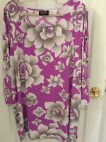 womans plus size 3X Bob Mackie art multicolor cold shoulder 3/4 sleeve blouse