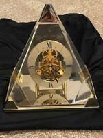 Vintage Seiko Pyramid Quartz Triangle Mantle Table Clock QAW109G