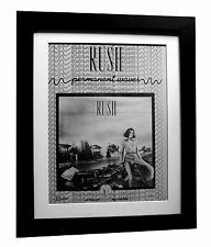 RUSH+Permanent Waves+POSTER+AD+RARE+ORIG 1980+QUALITY FRAMED+EXPRESS GLOBAL SHIP