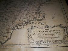 Antique 1757 French Map- Nouvelle Angleterre