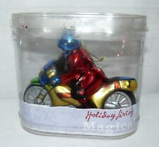 Holiday Living Magical Motorcycle Glass Ornament