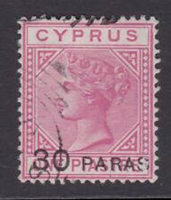 Cyprus. 1882. SG 24, 30pa on 1pi rose. Fine used.