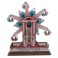 Collectible Ferris Wheel Wind Up Rotating Tin Toys w/ Key Home Decor Gift #3