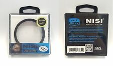 Nisi Filter 52mm MC UV Multi Coating Japan Glass Ultra Slim Thin Frame