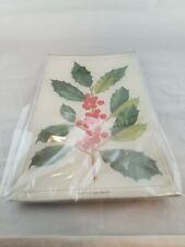 Ben's Garden Jolly Holly Sprig Glass Decoupage Christmas Tray - New In Package