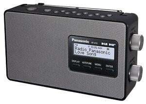 Panasonic RF-D10EG-K Digitalradio (DAB+/UKW Tuner, Netz- und Batteriebetrieb)