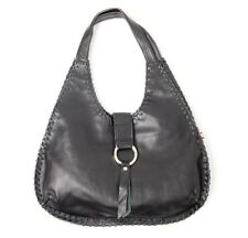 NEW Hand Made Bragbags Black Leather Cowgirl Shoulder Bag Women
