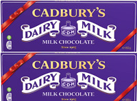 CADBURY DAIRY MILK CHOCOLATE BAR - 2 Bars of 850g Comes In Own Box