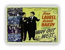 Laurel And Hardy Way Out West Movie Film Poster METAL SIGN PLAQUE Vintage Retro