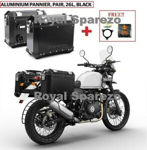 Royal Enfield Aluminum Panniers Black For Himalayan With Free Oil Filter