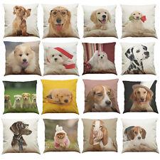 """18"""" Cute Pet Dog Animal Cotton Linen Throw Pillow Case Cushion Cover Home Decor"""