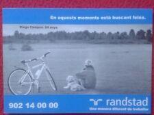 POSTAL POSTCARD POST CARD PUBLICIDAD RANDSTAD. CHICO PERRO BICI BICYCLE VER FOTO