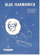"""BLUE HARMONICA"" PIANO/VOCAL SHEET MUSIC-1955-EXTREMELY RARE-BRAND NEW ON SALE!!"