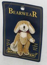 "Boyds Bearwear Pin Tucker F Wuzzie 2 1/4"" Plush Jointed Dog Miniature Doll House"