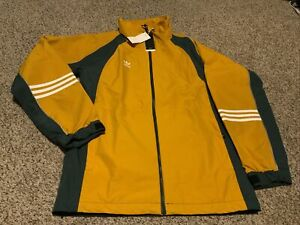 NWT adidas 10K DNA Jacket Legacy Gold/Mineral  Mens Size: XL FJ7489