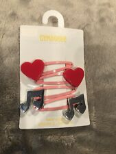 4-Pack Gymboree Hair Clips w/ Music Notes & Hearts, Play by Heart