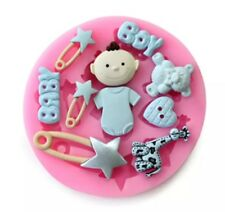 BABY SHOWER/BOY SILICONE MOULD/ MOLD-FONDANT ICING-CUPCAKE/CAKE DECORATION-RESIN