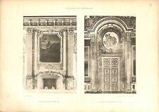 Salon d'Hercule Cheminée Salon de l'Abondance Château de Versailles GRAVURE 1899